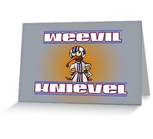 Weevil Knievil Insect Stunt Rider Greeting Card