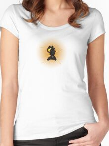 Sci-Fi Lava Whip Alien from another world Women's Fitted Scoop T-Shirt
