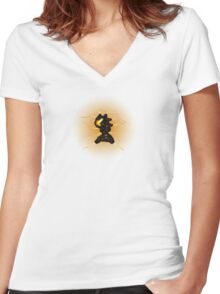 Sci-Fi Lava Whip Alien from another world Women's Fitted V-Neck T-Shirt