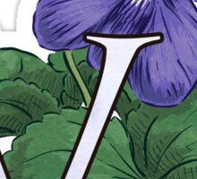 V is for Violet floating Sticker