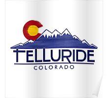 Telluride Colorado wood mountains Poster