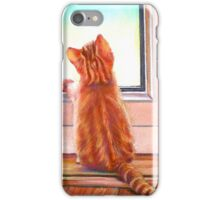 Cat at the Window iPhone Case/Skin