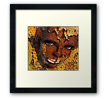 African face in graffiti  Framed Print