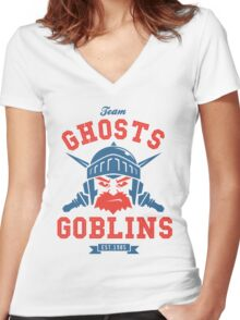 Team Ghost & Goblins Women's Fitted V-Neck T-Shirt