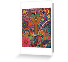 Initial Y Greeting Card