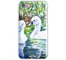 Two Cygnets iPhone Case/Skin