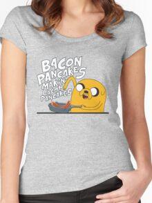 Adventure Time - Jake | Fanart Women's Fitted Scoop T-Shirt
