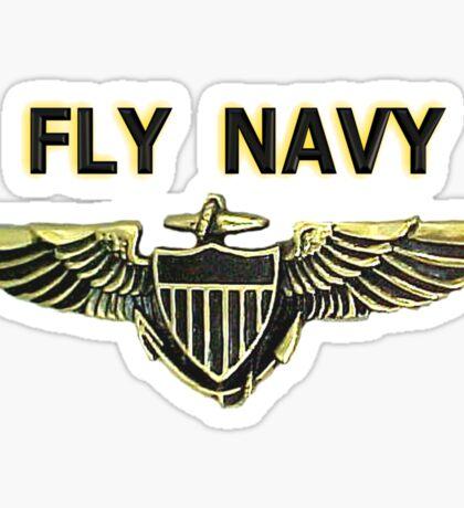 Naval Aviator Wings - Fly Navy Sticker