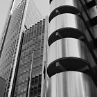 The Lloyds Building and Willis Building in the City of London by Chilla Palinkas