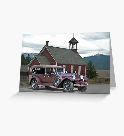 1929 Packard 640 Touring Car Greeting Card