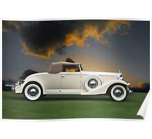 1933 Packard 12 Convertible Poster
