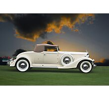 1933 Packard 12 Convertible Photographic Print