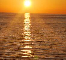Island sunset by EpeegoddessRay