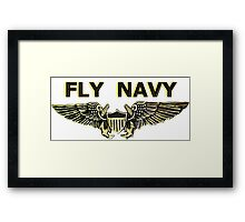 Naval Flight Officer Wings Framed Print