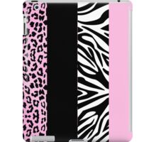 Pale Pink Zebra and Leopard Animal Print Stripes iPad Case/Skin