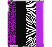 Purple Zebra and Leopard Animal Print Stripes iPad Case/Skin