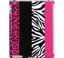 Hot Pink Zebra and Leopard Animal Print Stripes iPad Case/Skin