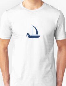 Seasick - sailor on a sailboat VRS2 T-Shirt