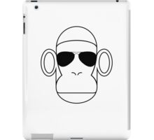 Aviator Monkey B&W iPad Case/Skin