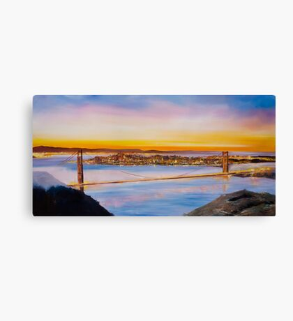 San Francisco Abstract Skyline Canvas Print