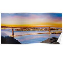 San Francisco Abstract Skyline Poster