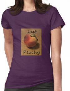 Just Peachy Peach Photo Womens Fitted T-Shirt