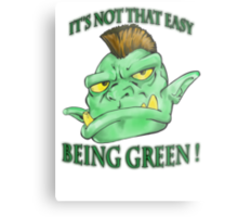 It's not that easy being green! Metal Print