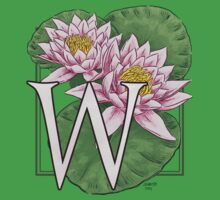 W is for Water Lily Kids Tee