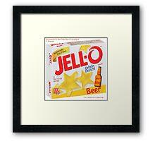 JELL-O Beer Parody Framed Print