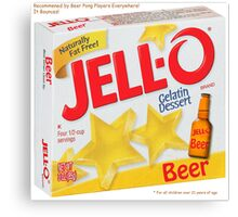 JELL-O Beer Parody Canvas Print