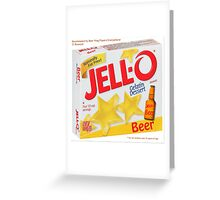 JELL-O Beer Parody Greeting Card