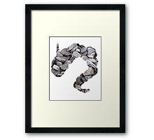 Onix used Rock Throw Framed Print