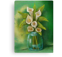 Jar of Calla Lilies Canvas Print