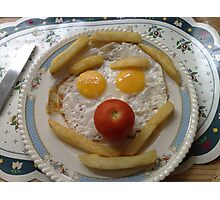 clown egg n chips Photographic Print