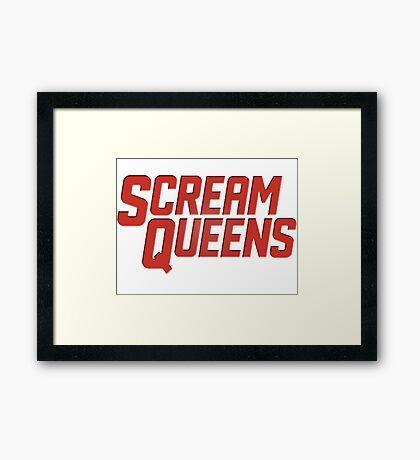 Scream Queens Framed Print