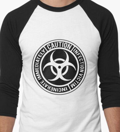 Biohazard | Infection Victim. Incinerate Immediately  Men's Baseball ¾ T-Shirt