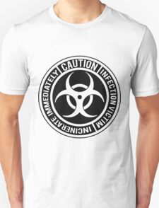 Biohazard | Infection Victim. Incinerate Immediately  Unisex T-Shirt