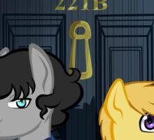 The Adventures of Sherlock Hooves: 221B Sticker