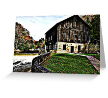 The Textured Autumn Mill Greeting Card