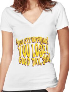Good Day Sir Women's Fitted V-Neck T-Shirt