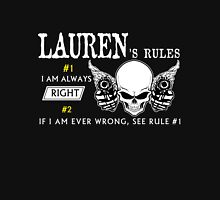 LAUREN Rule #1 i am always right. #2 If i am ever wrong see rule #1 - T Shirt, Hoodie, Hoodies, Year, Birthday T-Shirt