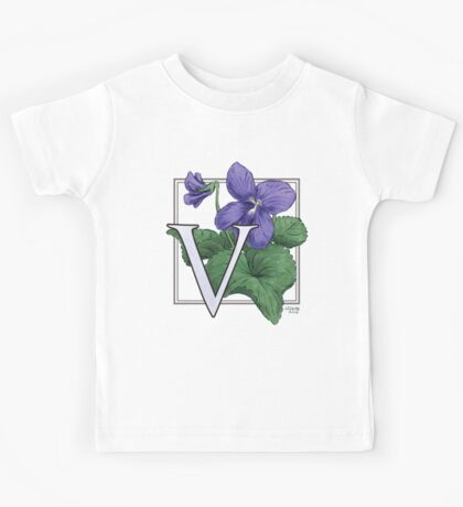 V is for Violet Kids Tee