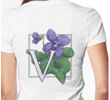 V is for Violet Womens Fitted T-Shirt