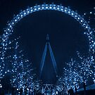 The London Eye by night by Chilla Palinkas