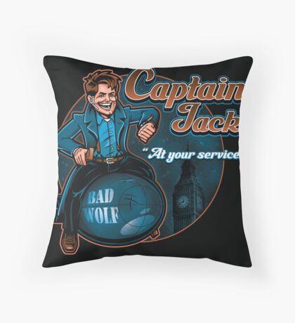 Captain Jack Throw Pillow