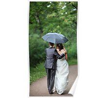 Walk on under umbrella Poster