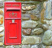 The Red Irish Post Box by Fara
