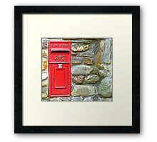 The Red Irish Post Box Framed Print