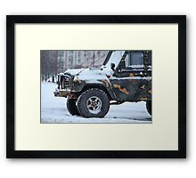 truck in the snow Framed Print