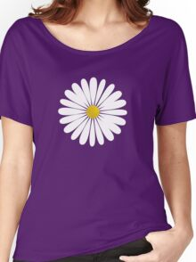 Daisy Flowers, Petals, Blossoms - White Yellow  Women's Relaxed Fit T-Shirt